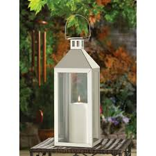 stainless steel silver candle lantern holder wedding centerpiece