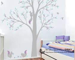 corner squirrel tree wall stickers nursery decal baby kids art package mailing tube is used for posting sticker