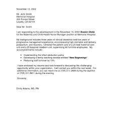 sample cover letter registered nurse registered nurse cover