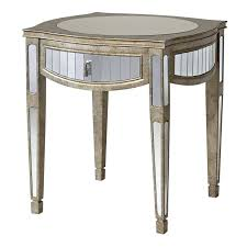 Small Black Accent Table Narrow End Table Accent Tables Mirrored Mirror Furniture
