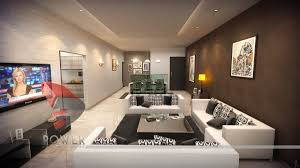 awesome hotel room with living room design in lighting view at