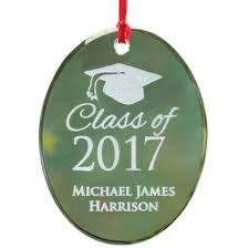 Personalized Graduation Ornaments Personalized Glass Confirmation Ornament Miles Kimball