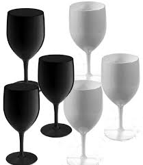 wine glass with initials large white black wine glass set 6 large white black wine