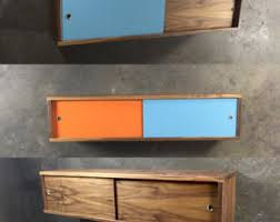 Walnut Cabinet Floating Cabinet Etsy