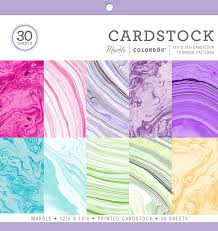 colorbok 71876a cardstock paper pad marble 12 x 12