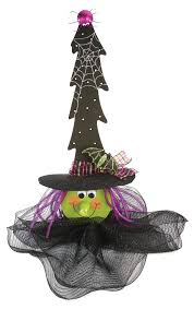 nicole crafts lighted wood tree witch halloween craft simply