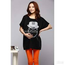 Trendy Plus Size Maternity Clothes 2017 2013 Maternity T Shirt Black Printed Dress T Shirts Top
