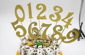 cake topper numbers glitter numbers cake toppers fancy decoratives