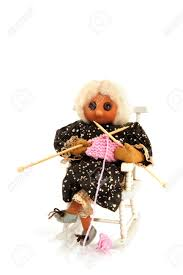 A Rocking Chair Knitting Grandma Sitting In A Rocking Chair Stock Photo Picture
