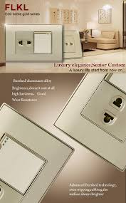 luxury power outlets wall mount power electrical 1 gang 2 pin multi switch socket