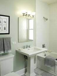 modern pedestal sinks for small bathrooms small pedestal sink exle of a classic subway tile bathroom design
