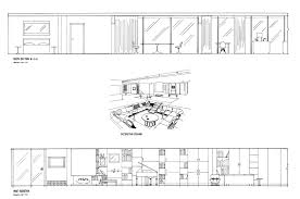 Floor Plan With Elevation And Perspective by Hand Drafting Eero Saarinen U0027s Miller House On Behance