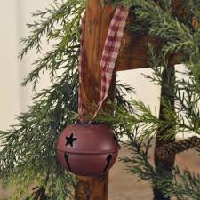 red bell w gingham ornament 2