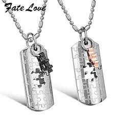personalized dog tag necklace stainless steel pendant necklace the great wall pendant necklace
