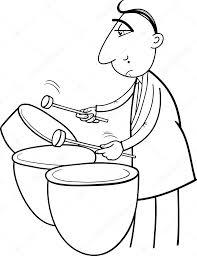 drummer musician coloring page u2014 stock vector izakowski 71964199