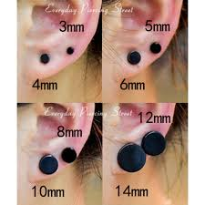 black ear studs online shop 3 14mm men earring stainless steel small ear