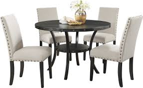 Black Glass Dining Table And 4 Chairs Dining Table With Chairs