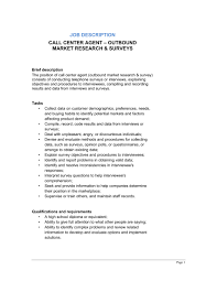 Job Objective In A Resume by Call Center Agent Outbound Market Research U0026 Surveys Job
