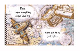 trip goes right greeting card luck printable card