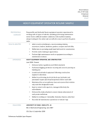 resume objective call center call center operator resume resume for your job application heavy equipment operator resume templates