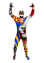 the clown morphsuit halloween costumes