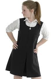girls pinafore dress single pleat heart zip grey black