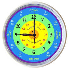 time learning clock learn to tell time what the time clock rainbow new 25cm ebay