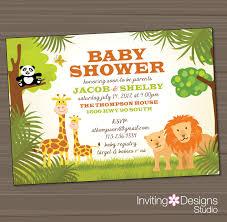 photo safari baby shower invitations image