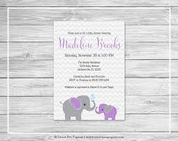 colors free printable etsy baby shower invitations elephant with