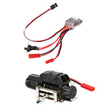 jeep rock crawler rc 1 10 electric automatic crawler winch and 30a brushed esc switch