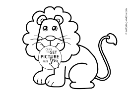 lion animals coloring pages for kids printable free coloing