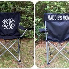 monogrammed folding chair softball from posh boutique posh