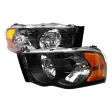 02 dodge ram headlights 02 05 dodge ram black housing style reflector headlights