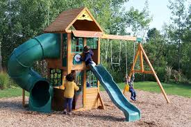 spey climbing frame two slides monkey bars and swing set