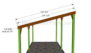 rv storage building plans how to build a freestanding patio cover out of wood home outdoor