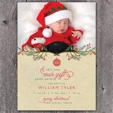 christmas baby announcement cards christmas birth announcements