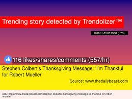stephen colbert s thanksgiving message i m thankful for robert