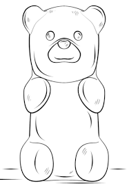 gummy bear coloring page free printable coloring pages