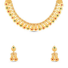 short necklace images Gold plated short necklace set gsnks311 maalyaa jpg