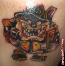 tazmanian devil firefighter tattoo