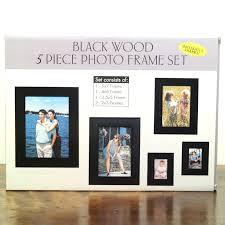 Burnes Of Boston Photo Album Burnes Of Boston Black Wood 5 Piece Photo Frame Set 5x7 4x6 3 5