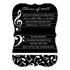 music graduation party invitation announcements kaitlyn