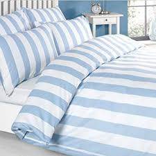 Amazon Duvet Sets Louisiana Bedding Vertical Stripe Blue U0026 White Duvet Cover Set 100