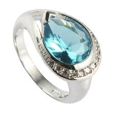 pretty stone rings images Fleure esme pretty lady light blue stone rings fashion jewelry jpg