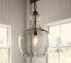 barn pendant light fixtures flynn oversized recycled glass pendant pottery barn