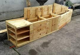 Mudroom Bench With Storage Pallet Mudroom Bench U0026 Wall Organizer 101 Pallets