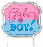gender reveal cake topper boy or girl gender reveal cake topper