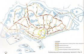 Highway Map Sg Highway Map Singapore Highway Map Republic Of Singapore