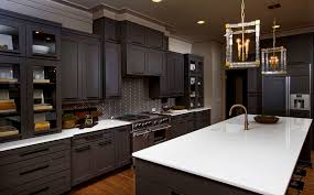 kitchen room lovely gray kitchen cabinets with black chair also