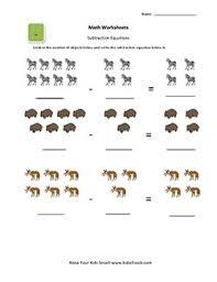 ukg simple subtraction worksheets for kids kidschoolz